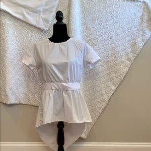 White blouse with open/bow back